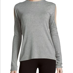 Bailey 44 Textured Long sleeve Top in Heather Gray